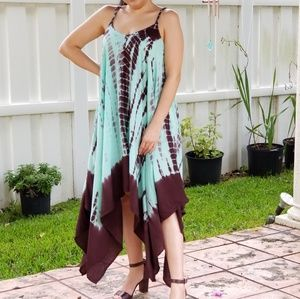 Dresses & Skirts - BRIGHT GREEN TIE DYE MAXI DRESS